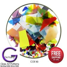 Bullseye Confetti Glass Shards Mardi Gras Color Mix COE 90 Fusing Supply