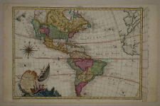 1767 Genuine Antique map N & S America. Quivira. Mer de l'Quest. by Moithey