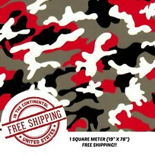 Hydrographic Film Water Transfer Film Hydro Dipping Dip Red Amp Black Camo 19x78