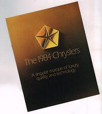 1984 Chrysler Folleto: Láser,Lebaron ,New Yorker,Fifth 5th Avenue,Clase E,Limo ,