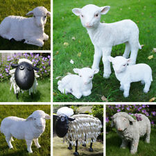 SHEEP Lamb Garden Ornament Farmyard Animal Patio Sculptures Statue Metal Resin
