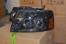 04-08 Ford F150 Dual Halo Projector LED Headlight Pair HL-HPL-LED F1504-SM-AM