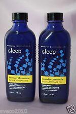 LOT 2 BATH & BODY WORKS AROMATHERAPY SLEEP LAVENDER CHAMOMILE BATH & MASSAGE OIL