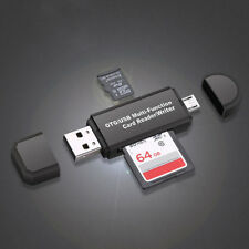 Portable Multifunction Memory Card Reader Micro OTG to USB 2.0 Converter Adapter