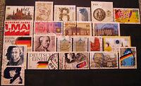 Briefmarken Bund 1990 Lot gestempelt MichelNr. 1444-1483 incl. 2 komplette Sätze
