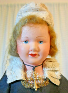 Vintage Antique Celluloid  Brittany France Petitcollin Estate Collection Doll