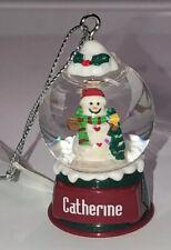 Personalized Snow Globe Ornament ~Catherine~ NEW