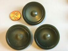 Antique Vintage Set Of 3 Buttons LARGE Carved Plastic Round Sewing Buttons A25