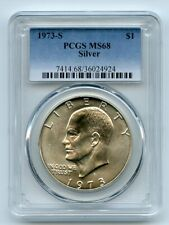 1973 S $1 Silver Ike Eisenhower Dollar PCGS MS68