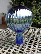 Glaskugel Rosenkugel xxxl Große Rosenkugeln Gartenkugeln Garten Balkon Eisblau