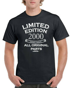 21st Birthday Gifts Year 2000 Present Mens 21 Years Old T Shirt Limited Edition