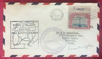 EARLE OVINGTON - AIR MAIL PILOT #1 - 1929 FIRST FLIGHT SIGNED COVER - RARE