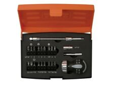 Bahco 48 Tooth Stubby Ratcheting Screwdriver with Bit Set 808050S-22