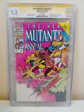 The New Mutants Annual #2 1986 1st US Psylocke! CGC 9.2 Signed Alan Davis!