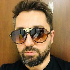Men Sunglasses Fashion Moth bug Brown Lens Women's Men's Bee Style Miami Shades