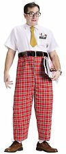 Mens Complete Nerd Costume Outfit Dork Accessories Adult Glasses Shirt Pants Tie