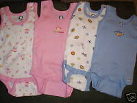 GERBER Baby Girl Boy Choice 3 6 9 Month Choice Onesie 2-Pack Tank Sleeveless NWT