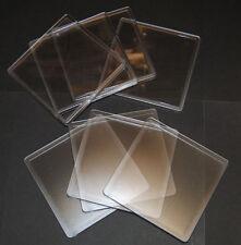 10 Vierge Transparent Carré Plastique Dessous De Verre Insertion De 90x90mm