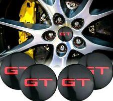 x4 pcs GT WHEEL CENTRE HUB CAP 56mm DOMED STICKERS ALLOY WHEEL GOLF GT TDI FORD