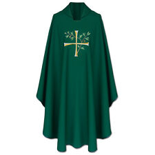 CHASUBLE Green Gothic Chasuble, vestment,