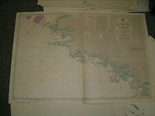 Vintage Admiralty Chart 20 FRANCE - ILE D'OUESSANT to ST. NAZAIRE 1980 edn