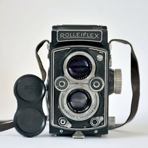 Rollei TLR 6x6 Rolleiflex 3,5 T with Carl Zeiss Tessar 3,5/75 + Case and FILTERS