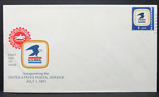 US COVER FDC Post Office Department inaugurating STAMP usa solo tag lettera (h-6309