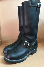 """16"""" TALL SIZE 10 ½ BLACK LEATHER WESCO ENGINEER MOTORCYCLE BIKER BOOTS"""