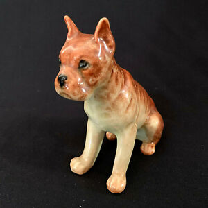 Vintage Boxer Dog  Porcelain Figurine