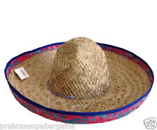 Mexican Sombrero Straw Hat Fancy Party Dress Fiesta Costume Spanish