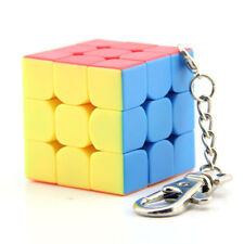 Mini Lock Keychain Rubik's Cube 3x3x3 Magic Speed Cube 35mm Stickerless Twist