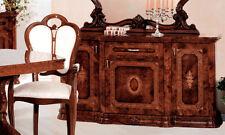 Anrichte Buffet Sideboard 3-türig mit Serigrafie Nussbaum Hochglanz Stilmöbel
