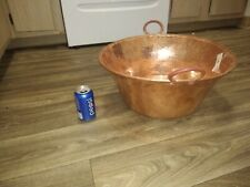 Mexican Pure Copper Pot for Carnitas/candy/jam. 18 in wide. Very thick and heavy