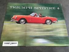 CATALOGUE TRIUMPH SPITFIRE 4  en francais    I86