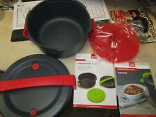 """Kuhn Rikon """"Duromatic Micro"""" Grey & Red Microwave Pressure Cooker 4.0L Brand New"""