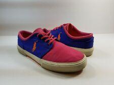 Polo Ralph Lauren Men's Pink & Blue Lace Up Sneakers - 9.5D