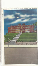 Science Hill High School  at Night  Johnson City  TN  Unused Postcard 10224