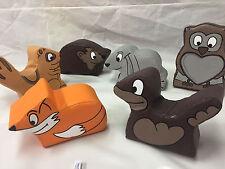 New 6  x Mini WOODLAND Animal soft play set Quality Foam ideal soft play add on