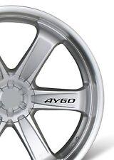6x Car Alloy Wheel Sticker fits Toyota Aygo Bodywear Decal Adhesive PT93