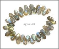 40 Labradorite Teardrop Briolette Beads ap.5x8 Grade A #85332