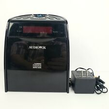 Audiovox Cd1120 Black Am/Fm Clock Radio Cd Player with Cord Tested Works