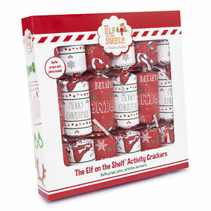Set Of 6 Elf On The Shelf Table Or Tree Christmas Crackers Party Fun Family