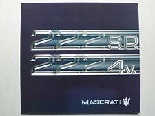 Prospekt Maserati 222 SR / 222 4v. 2,8 l, 1992, 8 Seiten, deutsch/französisch