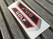 GOLF 5 V 6 vi in acciaio inox in acciaio Inox Ottica diapositive GOLF sede Emblema Sticker Adesivo