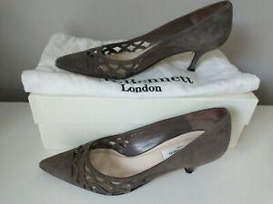L.K. Bennett Grey Court Shoes Size 3 Rachel