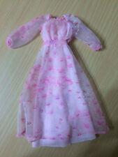 1978 Vintage Kissing Barbie Doll Clothes Fashion Dress Night Gown Pink Lip Print
