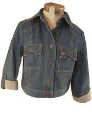 Fitted Jean Jacket  Women S  Cropped Western Blue Denim Vintage Pocket  90s