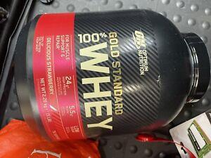 Optimum Nutrition Gold Standard 5lbs Whey Protein Powder, Strawberry - 1054617