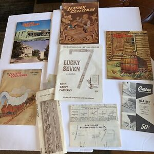 VINTAGE Lot of Leather Patterns And Leather Craftsman Magazines From The 60's