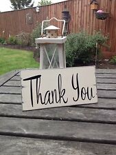Thank you wedding sign shabby n chic wedding table sign